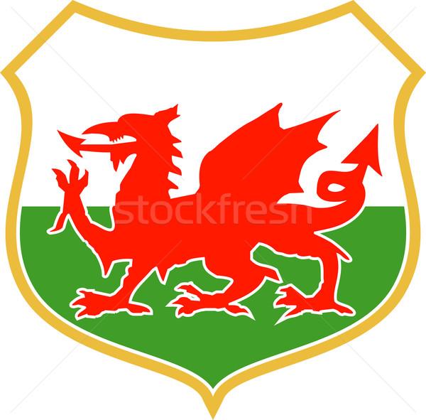 red welsh dragon Stock photo © patrimonio