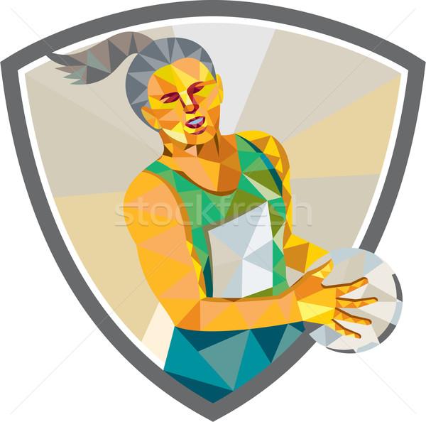 プレーヤー ボール 低い ポリゴン スタイル ストックフォト © patrimonio