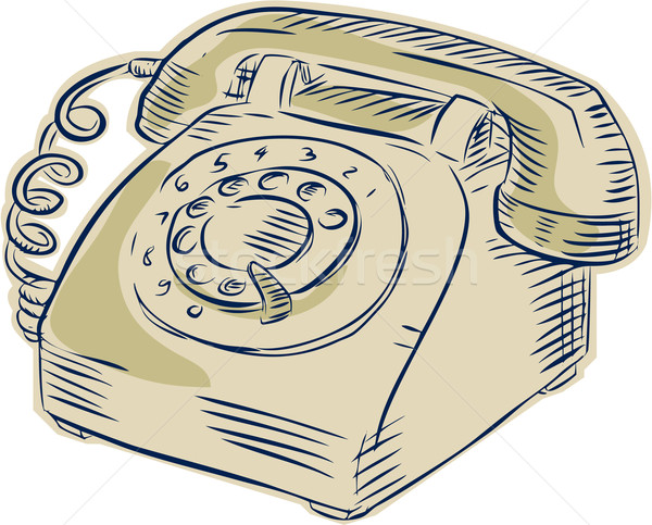 Telephone Vintage Etching Stock photo © patrimonio