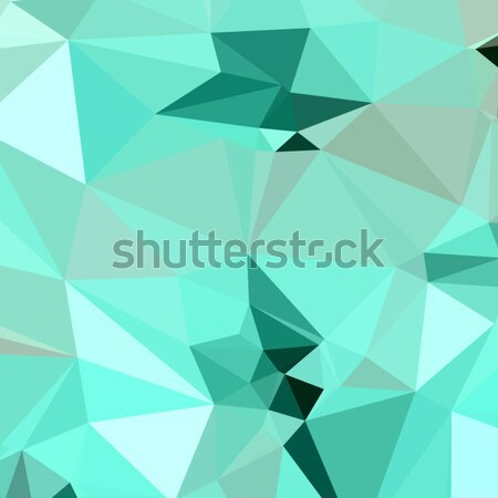Caribbean Green Abstract Low Polygon Background Stock photo © patrimonio