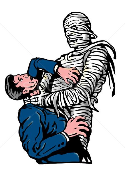 mummy strangling a man Stock photo © patrimonio