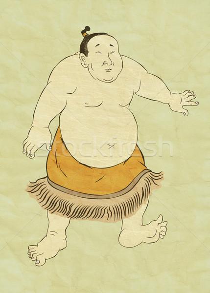 Japanese sumo wrestler Stock photo © patrimonio