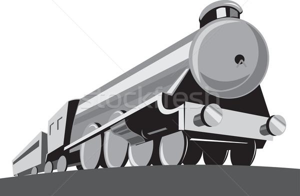 Vapeur train locomotive rétro illustration Photo stock © patrimonio