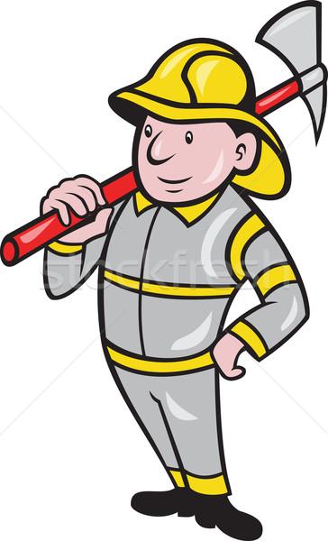 消防 消防士 緊急 ワーカー 実例 火災 ストックフォト © patrimonio
