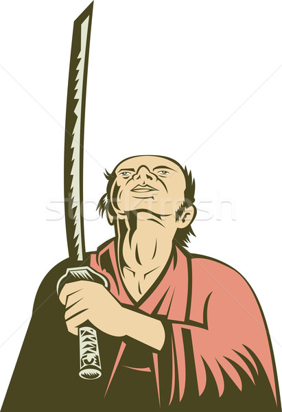 Japonês samurai guerreiro espada Foto stock © patrimonio