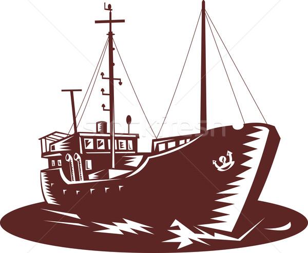 トレーダー ボート 実例 ストックフォト © patrimonio