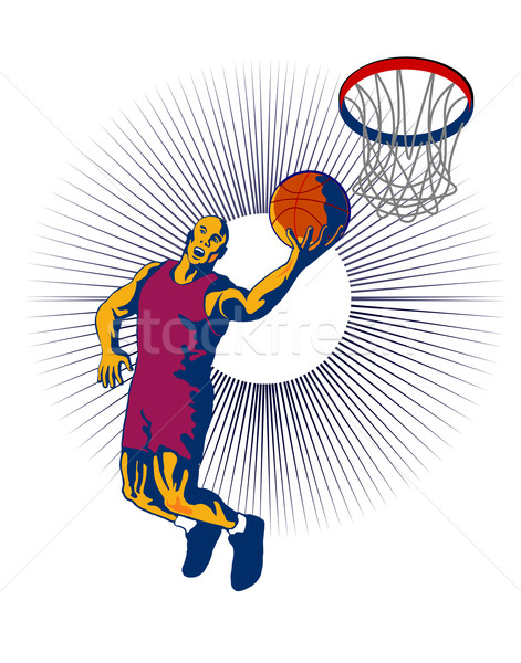 Zdjęcia stock: Ilustracja · piłka · w · stylu · retro · sportu · retro