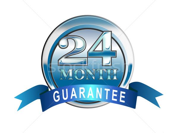 Stock photo: Icon 24  Month Guarantee Blue