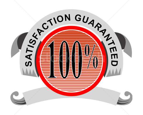 100% Satisfaction Guaranteed Shield Curly Ribbon Stock photo © patrimonio