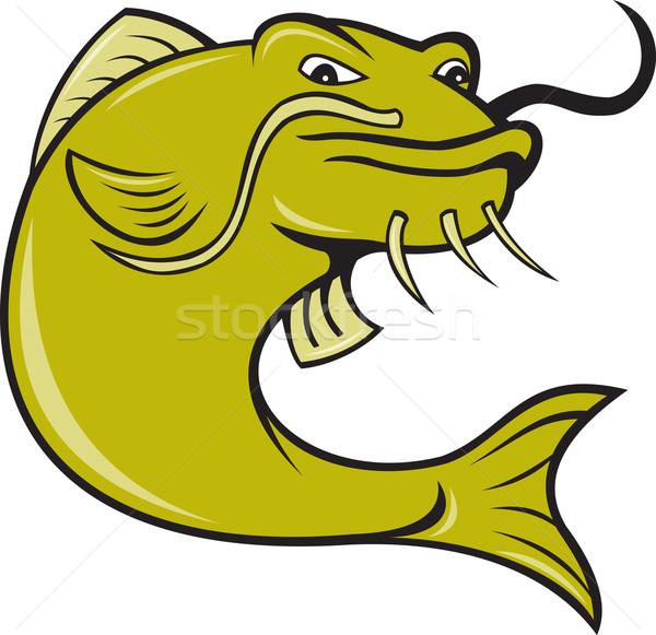 Angry Cartoon Catfish Fish Stock photo © patrimonio