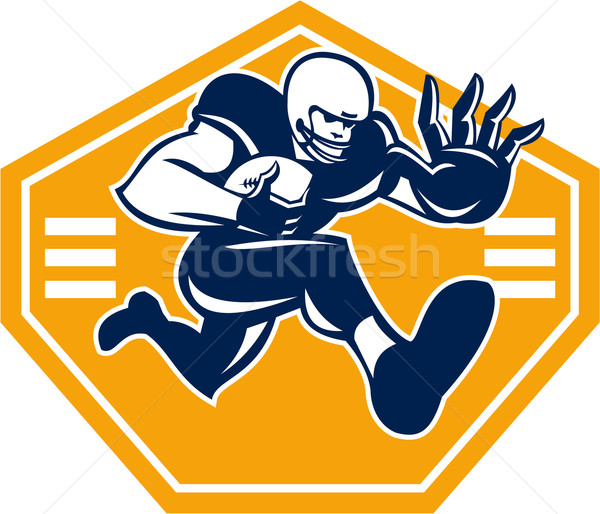 American Football Running Back Stiff Arm Stock photo © patrimonio