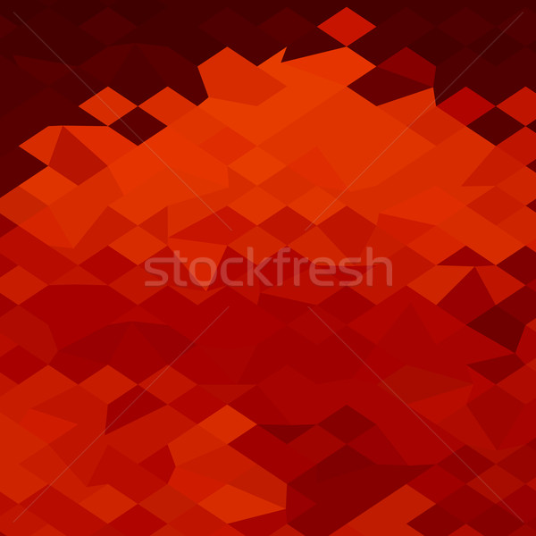 Red Lava Abstract Low Polygon Background Stock photo © patrimonio
