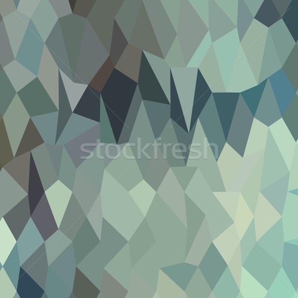 Egípcio azul abstrato baixo polígono estilo Foto stock © patrimonio