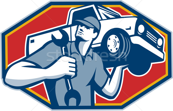 Automotive Mechanic Car Repair Retro Stock photo © patrimonio