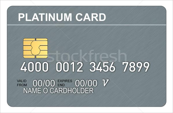 Platin kredi kartı örnek madeni yonga retro tarzı Stok fotoğraf © patrimonio