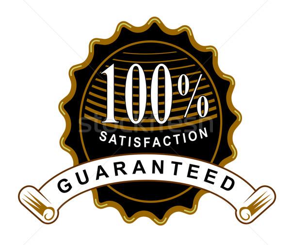 100 satisfação garantido preto selar fita Foto stock © patrimonio