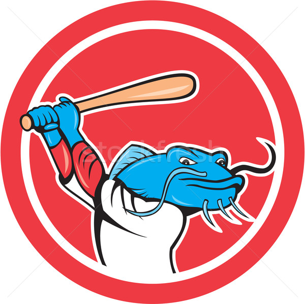 Jogador de beisebol desenho animado ilustração conjunto dentro círculo Foto stock © patrimonio