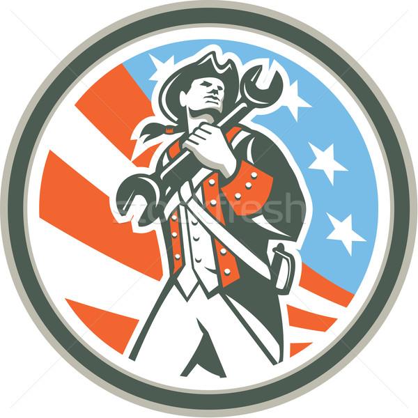 Amerikaanse patriot sleutel cirkel retro Stockfoto © patrimonio