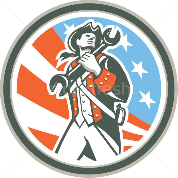 Amerykański patriota klucz kółko retro Zdjęcia stock © patrimonio