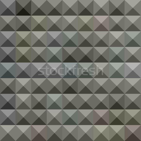 Gris résumé faible polygone style illustration Photo stock © patrimonio