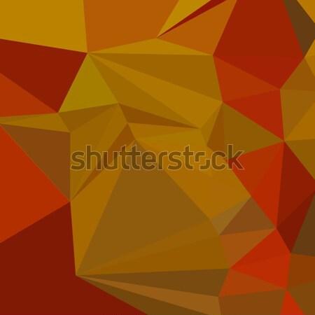 Tenne Tawny Orange Abstract Low Polygon Background Stock photo © patrimonio