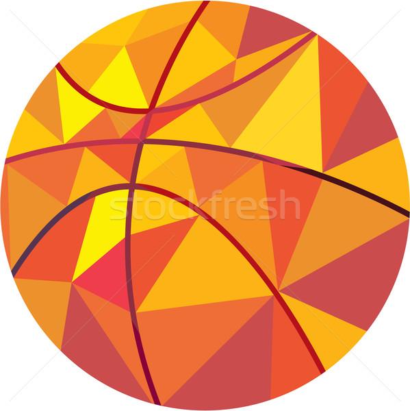 Basket palla basso poligono stile illustrazione Foto d'archivio © patrimonio