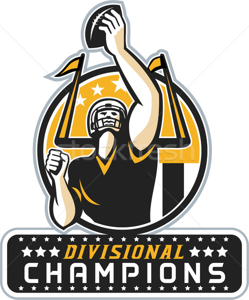 American Football Divisional Champions Retro Stock photo © patrimonio