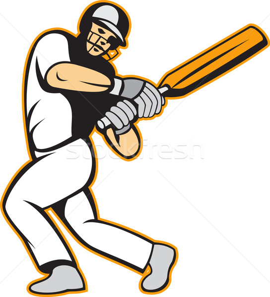 Cricket Player Batsman Batting Stock photo © patrimonio