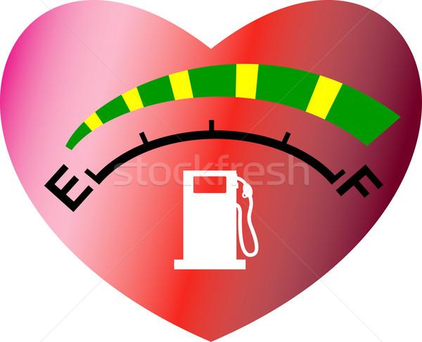 fuel gage meter heart shape Stock photo © patrimonio