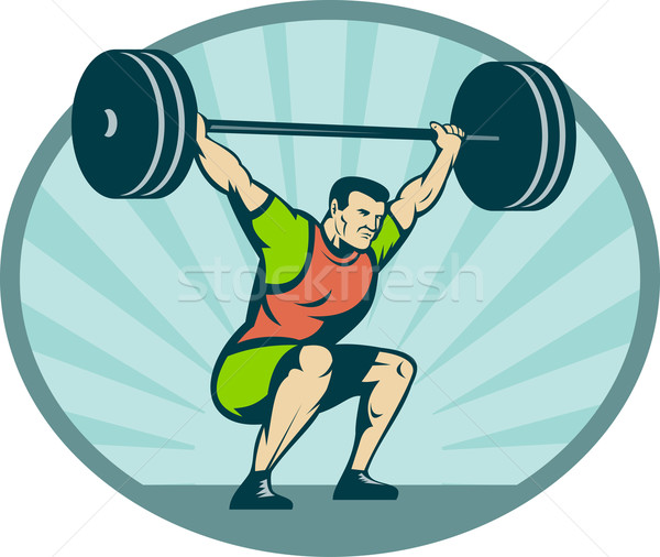 Weightlifter lifting heavy weights  Stock photo © patrimonio