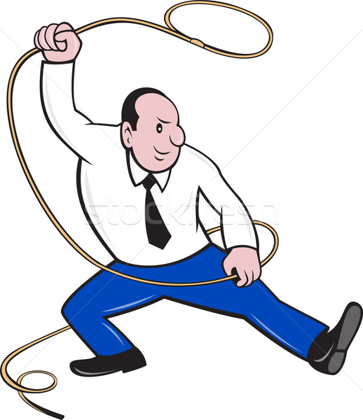 Businessman Holding Lasso Rope Stock photo © patrimonio