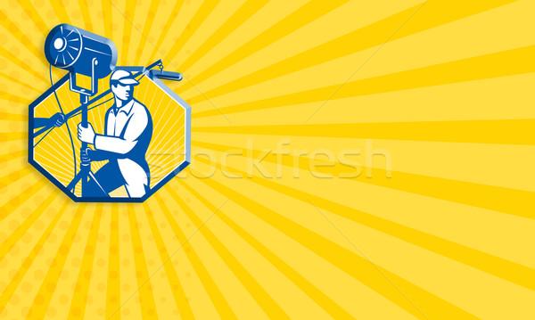 électrique éclairage technicien équipage Spotlight Photo stock © patrimonio