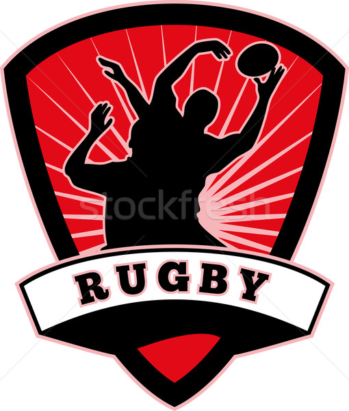 rugby player lineout catch shield Stock photo © patrimonio