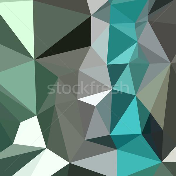 Persian Green Abstract Low Polygon Background Stock photo © patrimonio