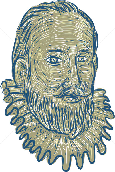 Sir Walter Raleigh Bust Drawing Stock photo © patrimonio