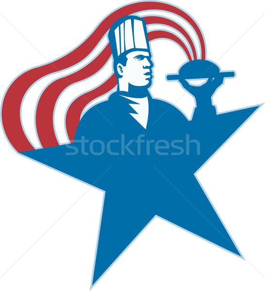 Kucharz gotować piekarz hot żywności Zdjęcia stock © patrimonio