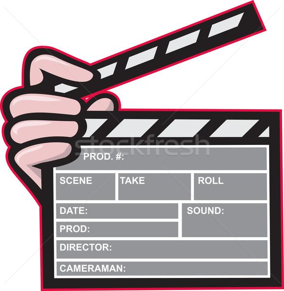 Clapboard Clapperboard Clapper Front Stock photo © patrimonio
