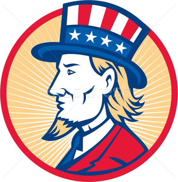 Tío americano lado ilustración sombrero Foto stock © patrimonio