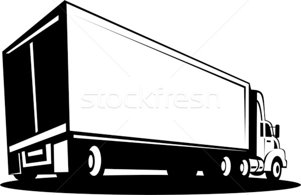 Stock photo: container Truck and trailer