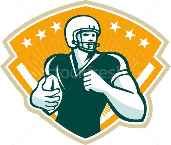 American Football Runningback Crest Stock photo © patrimonio