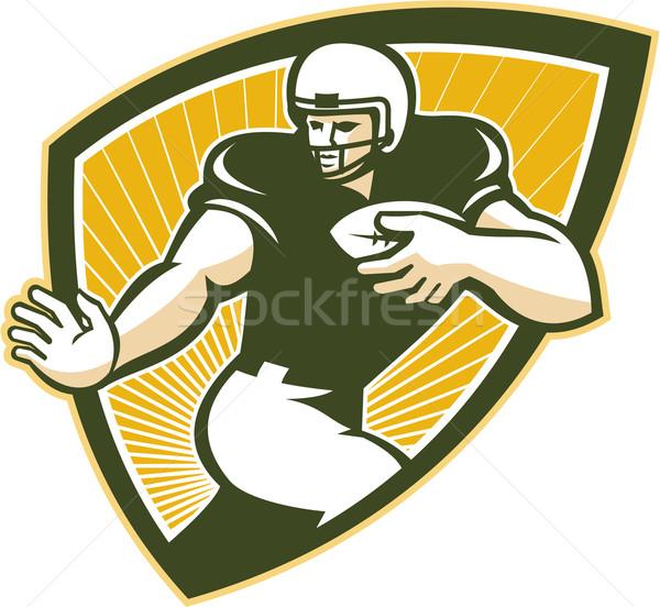 American Football Running Back Shield Stock photo © patrimonio
