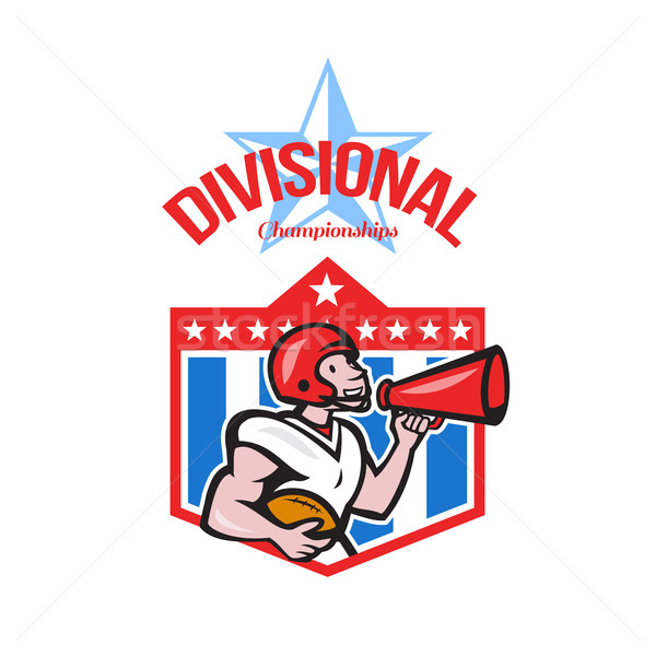 American Football Quarterback Divisional Champions Stock photo © patrimonio