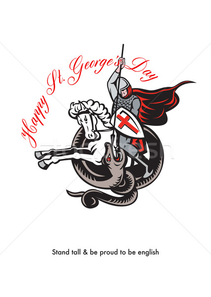 スタンド 誇りに思う 英語 幸せ レトロな ストックフォト © patrimonio