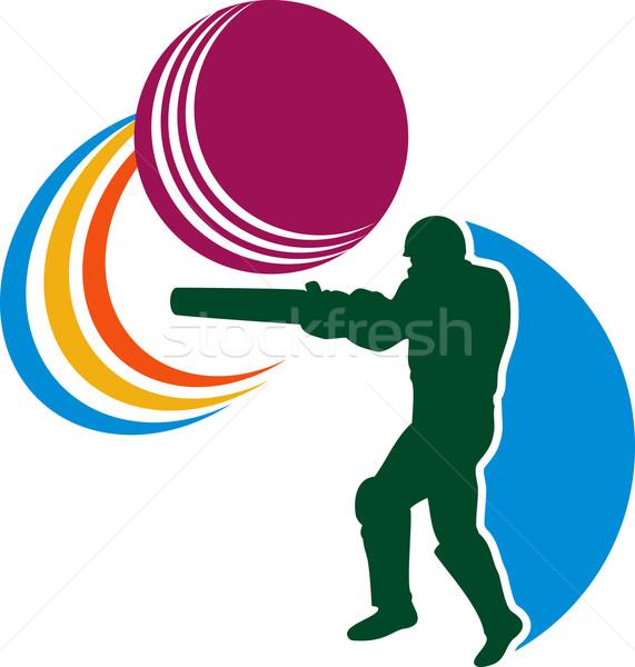 cricket player batsman batting ball Stock photo © patrimonio