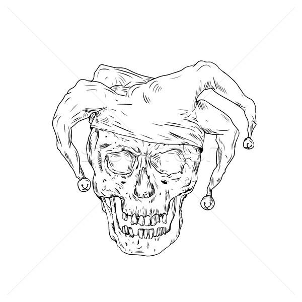 Court Jester Skull Drawing Stock photo © patrimonio