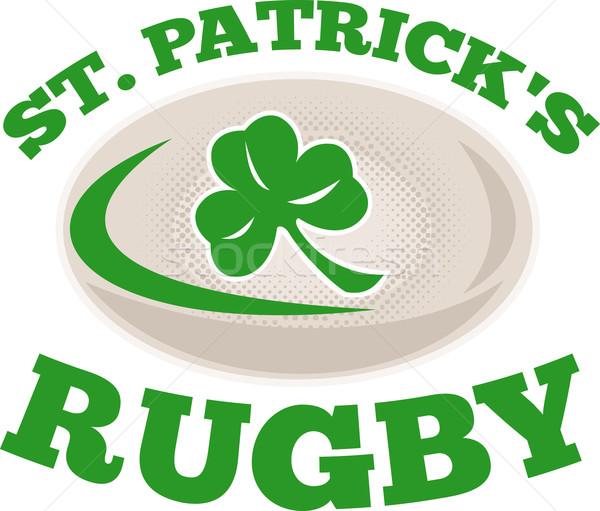 st. patrick's rugby ball shamrock Stock photo © patrimonio