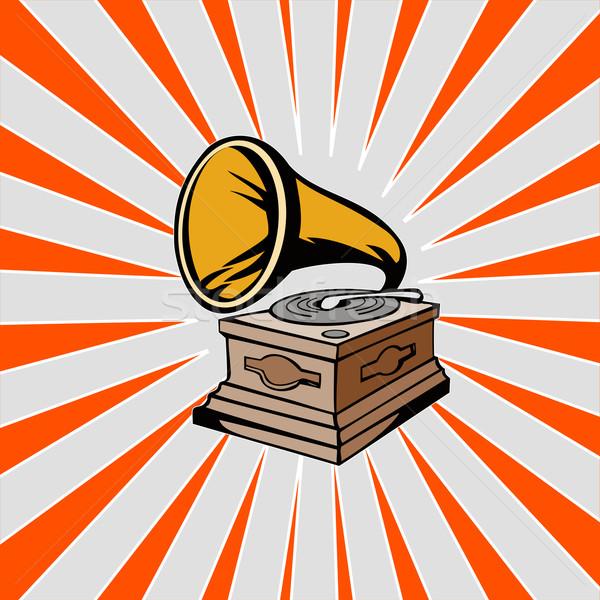 Phonograph with Sunburst Stock photo © patrimonio