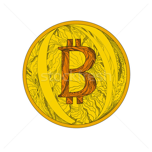 Bitcoin Doodle Art Stock photo © patrimonio