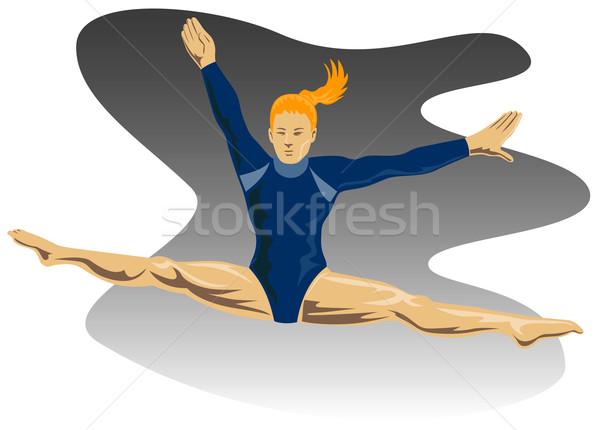体操選手 ジャンプ 実例 女性 空気 フロント ストックフォト © patrimonio