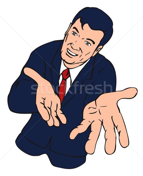 Businessman Extending Hands Stock photo © patrimonio